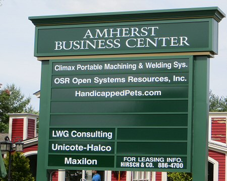 Amherst Business Center Sign