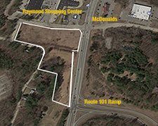 Commercial land for sale. Route 107, Raymond, NH