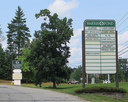 Harris Pond Signs